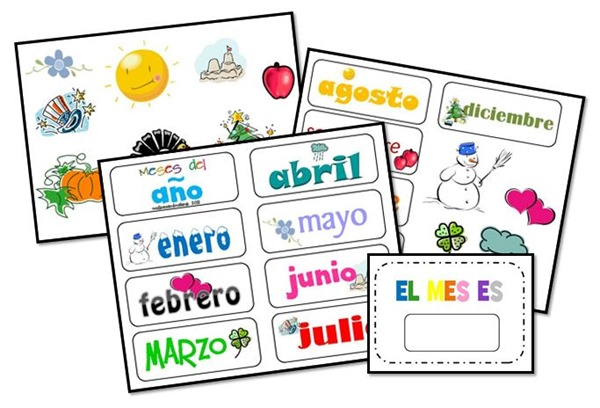 Spanish calendar clipart image freeuse stock Mudpies and Make-up: Spanish Circle Time Printables {FREE!} image freeuse stock