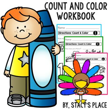 Count and Color Workbook (Fall Theme) | Stacy\'s Place ... clip royalty free