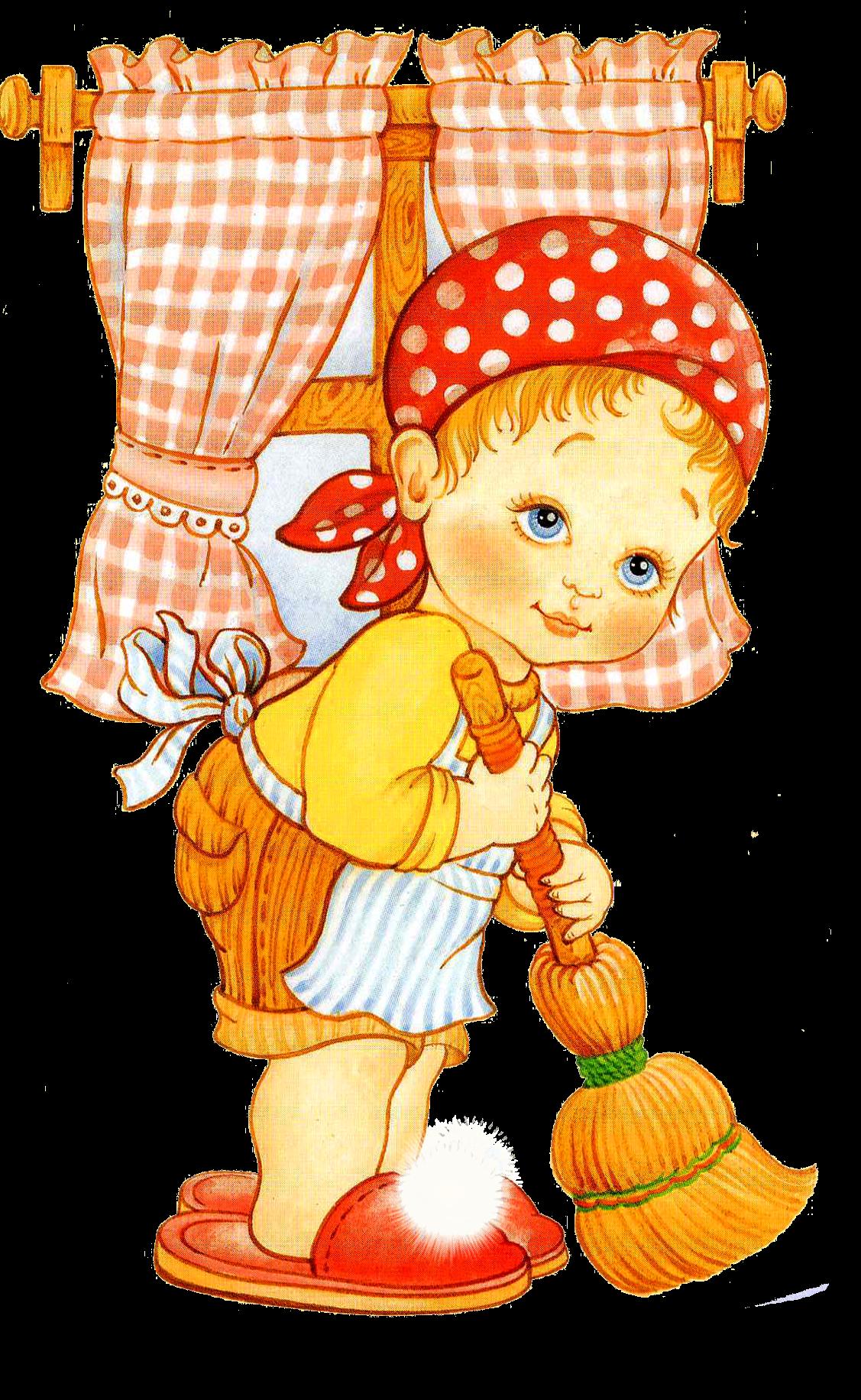 Sparkling clean house clipart clipart free library Рисунок девочки с метлой, уборка | BARNBILDER 2 | Pinterest ... clipart free library