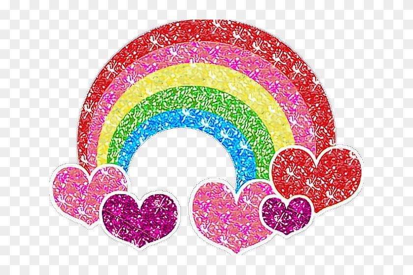 Sparkly rainbow clipart banner transparent stock Rainbow Clipart Glitter - Rainbow Glitter Heart Png ... banner transparent stock