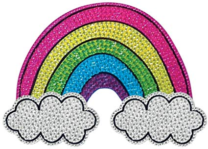 Sparkly rainbow clipart banner free stock iscream Sparkly Rhinestone Good Vibes! Rainbow and Clouds 2\