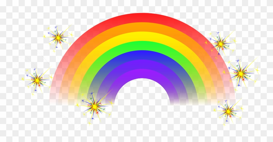 Sparkly rainbow clipart clipart library library Hd Rainbow Cliparts - Rainbow With Sparkles Png Transparent ... clipart library library