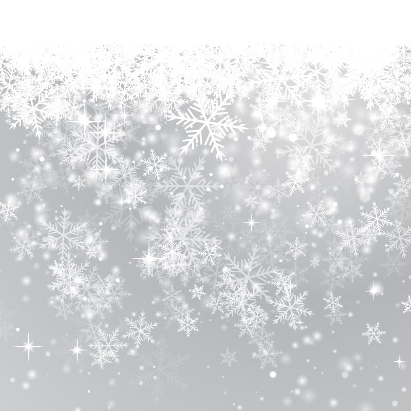 Sparkly snowflakes falling png clipart vector free clipart black and white Fine Winter Snowflake Background Vector Material ... clipart black and white
