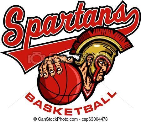 Spartans basketball clipart clip art free spartans basketball Vector - stock illustration, royalty ... clip art free