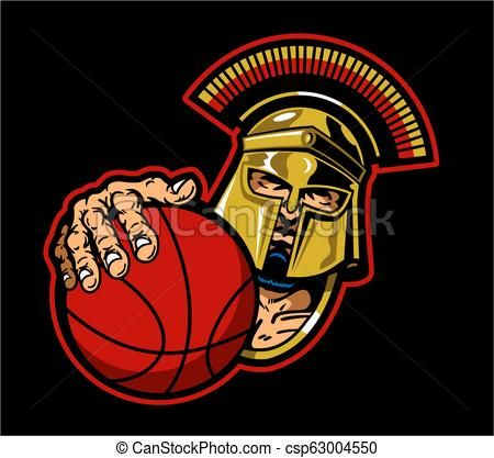Spartans basketball clipart png download spartan basketball mascot Vector - stock illustration ... png download