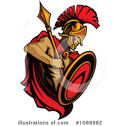 Spartan clipart clipart library library Spartan Clipart #1088982 - Illustration by Chromaco clipart library library