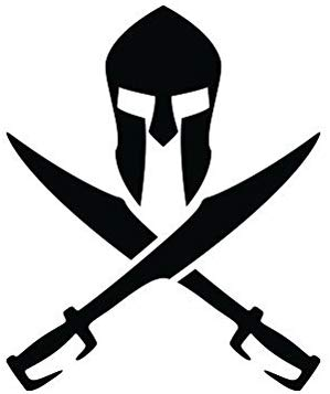 Spartan sword clipart graphic library stock RDW Crossed Spartan Sword Sticker - Decal - Die Cut - Black graphic library stock