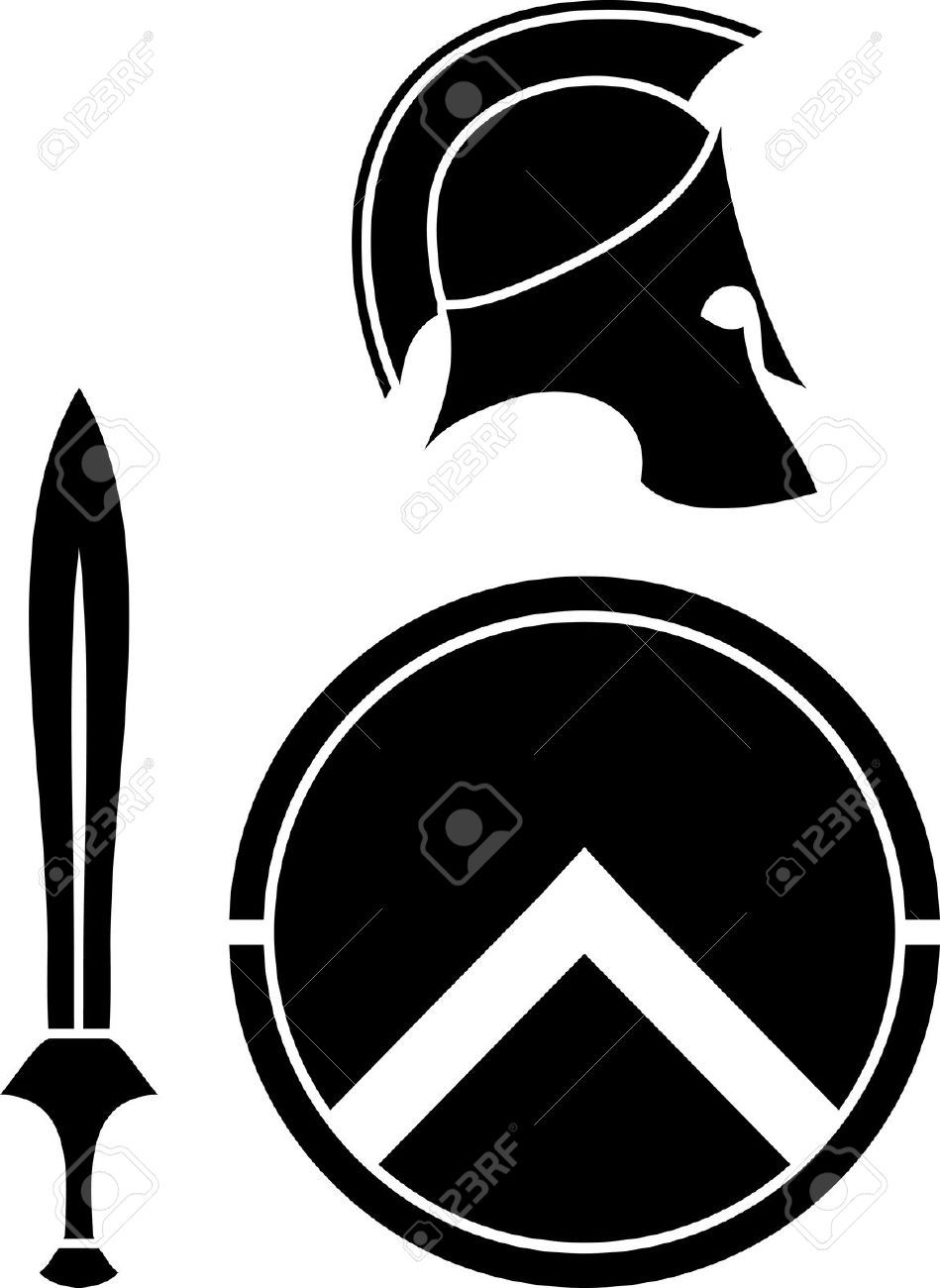 Spartan sword clipart picture freeuse Stock Vector | Hayden\'s Tattoos | Shield tattoo, Spartan ... picture freeuse