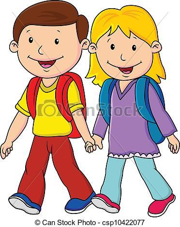Spaziergang clipart graphic library stock Kinder spaziergang clipart 2 » Clipart Portal graphic library stock
