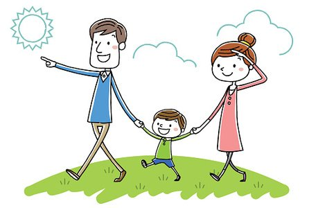 Spaziergang clipart jpg library library Illustration Material: Parent Child Walk premium clipart ... jpg library library