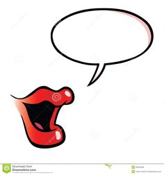 Speaking mouth clipart black and white stock Speaking mouth clipart 1 » Clipart Station black and white stock