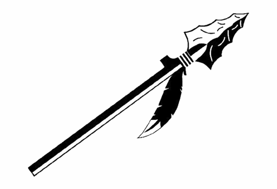 Indian arrow clipart black and white jpg freeuse download Tribal Arrow Clipart - Indian Spear Logo, Transparent Png ... jpg freeuse download