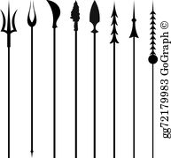 Spears clipart picture royalty free Spear Clip Art - Royalty Free - GoGraph picture royalty free