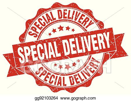 Special delivery clipart svg library stock Vector Clipart - Special delivery stamp. sign. seal. Vector ... svg library stock