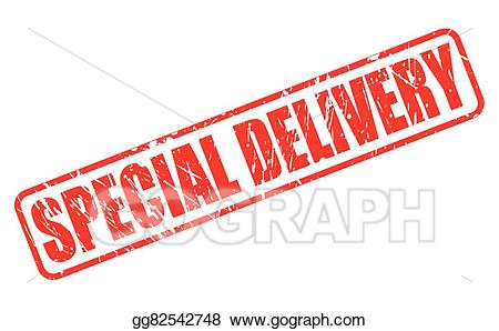 Special delivery clipart vector library library Vector Art - Special delivery red stamp text. Clipart ... vector library library