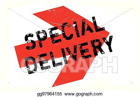 Special delivery clipart vector EPS Vector - Special delivery stamp. Stock Clipart ... vector