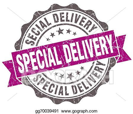 Special delivery clipart picture freeuse download Stock Illustrations - Special delivery violet grunge retro ... picture freeuse download