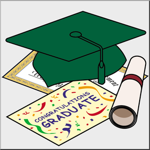 Special graduate clipart clipart royalty free stock Clip Art: Graduation Illustration Green Cap I abcteach.com ... clipart royalty free stock