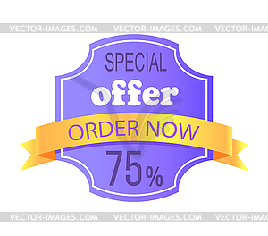 Special info clipart image free Special Offer Order Now 75 Off Price Label Info - vector clipart image free