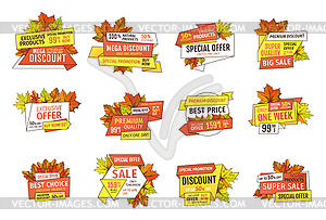Special info clipart clipart library download Sale Emblems with Info About Prices and Oak, Maple - vector ... clipart library download