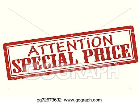 Special price clipart clipart freeuse stock Vector Clipart - Attention special price. Vector ... clipart freeuse stock