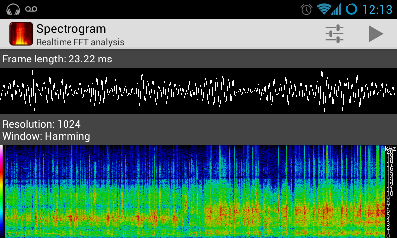 Spectrograph app clip art black and white library Spectrogram - Android Apps on Google Play clip art black and white library