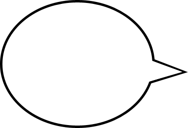 Speech bubble left clipart
