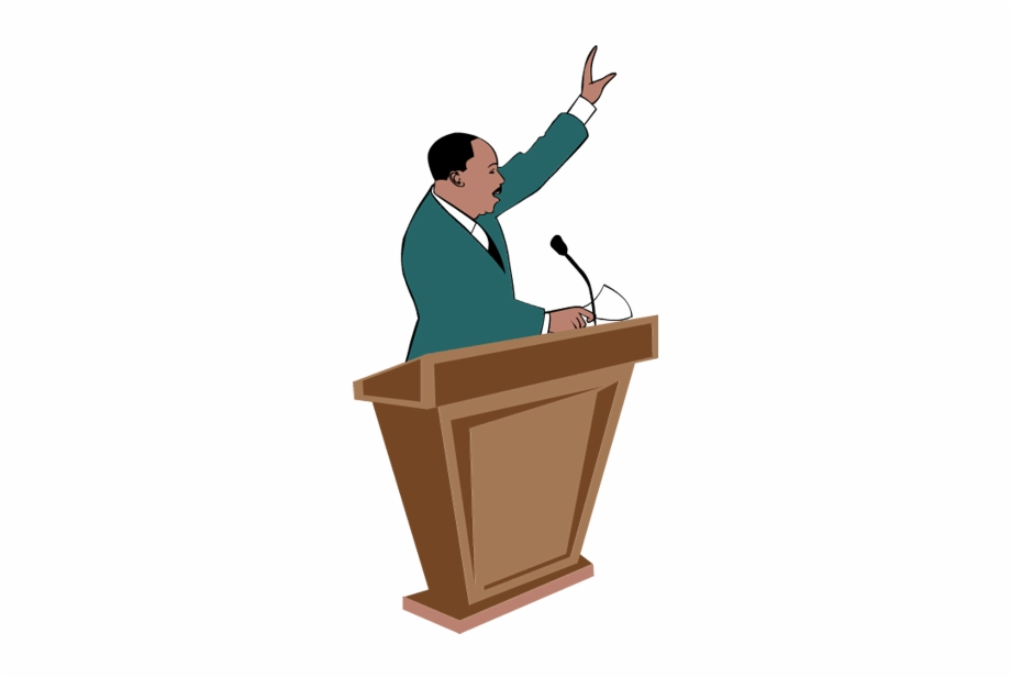 Speech podium clipart png stock Podium Clipart - Martin Luther King Transparent, Transparent ... png stock