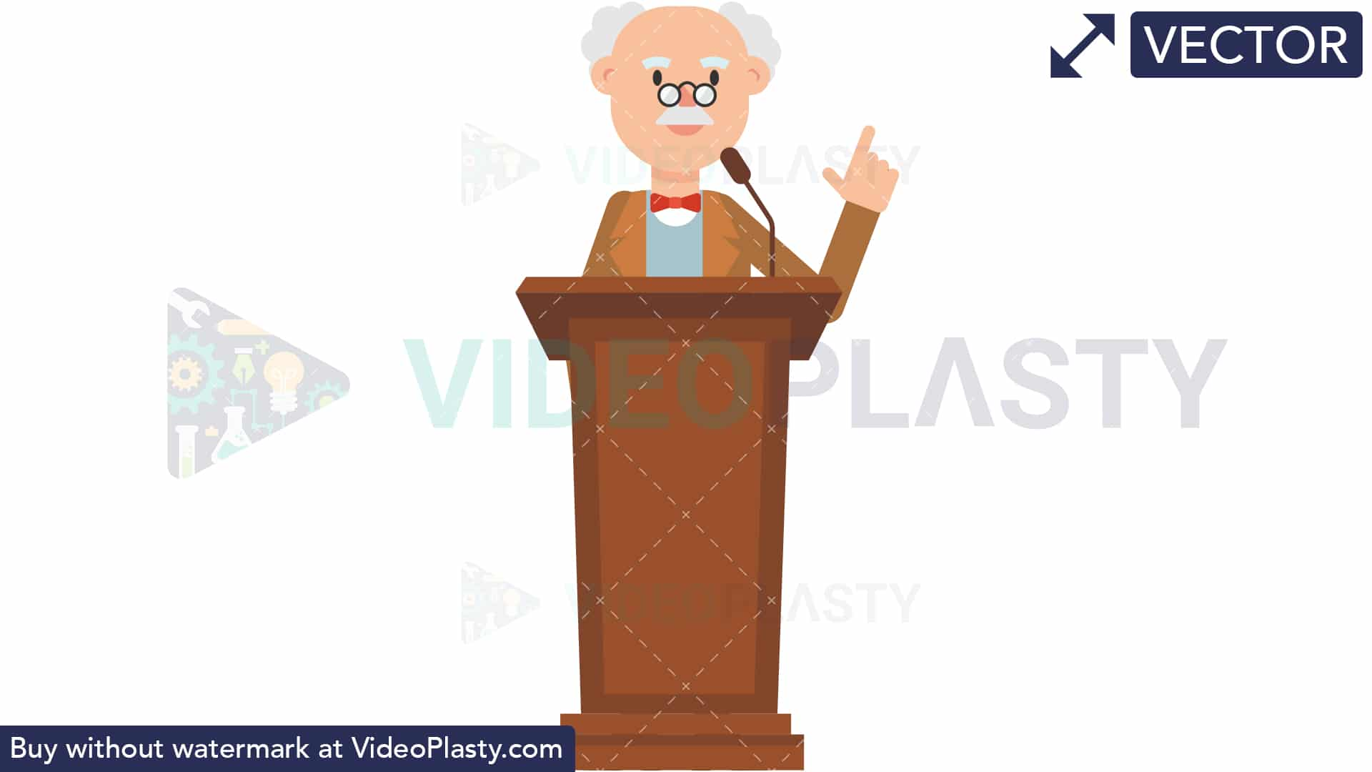 Speech podium clipart png royalty free Professor Speaking on the Podium [VECTOR] png royalty free