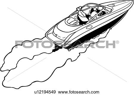 Speed boats clipart transparent library Clip Art of , boat, cruiser, power, power boat, speed, sport ... transparent library