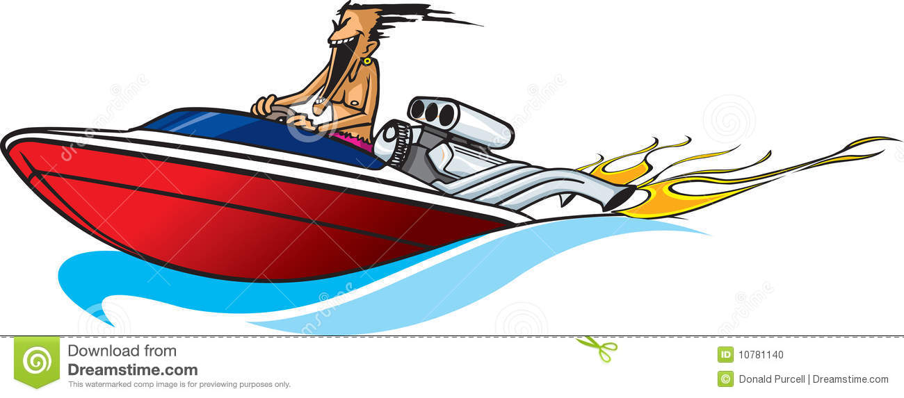 Speed boats clipart vector black and white download Cartoon Speed Boat Stock Illustrations – 404 Cartoon Speed Boat ... vector black and white download
