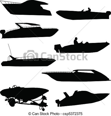 Speed boats clipart picture black and white Speedboat Illustrations and Clipart. 935 Speedboat royalty free ... picture black and white