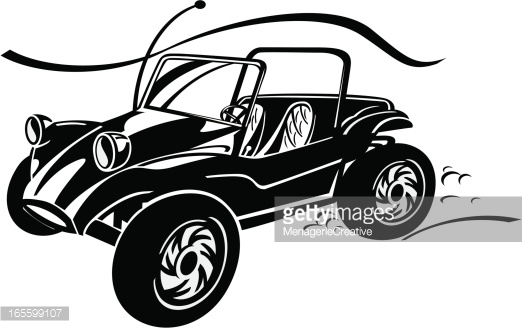 Speed buggy clipart jpg black and white download Dune Buggy Jump Vector Art | Getty Images jpg black and white download