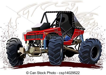 Speed buggy clipart jpg black and white Vector Illustration of Vector Cartoon Buggy. Available EPS-10 ... jpg black and white