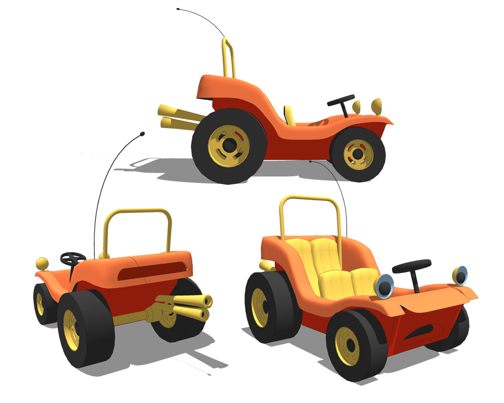 Speed buggy clipart png black and white stock Character Modeling by Eric Lay at Coroflot.com png black and white stock