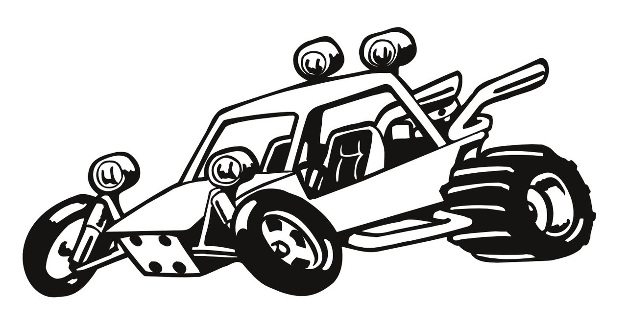 Speed buggy clipart jpg black and white stock Clipart buggy - ClipartFest jpg black and white stock
