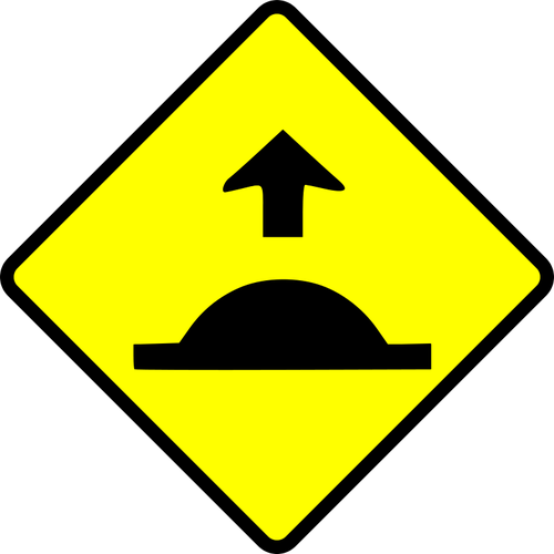Speed bump clip art clip freeuse download Speed hump caution sign vector image | Public domain vectors clip freeuse download