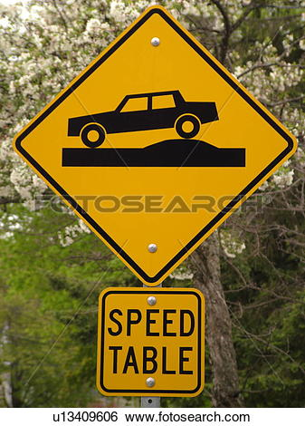 Speed bump clip art image library library Stock Images of road sign, Speed Table sign, speed bump, warning ... image library library