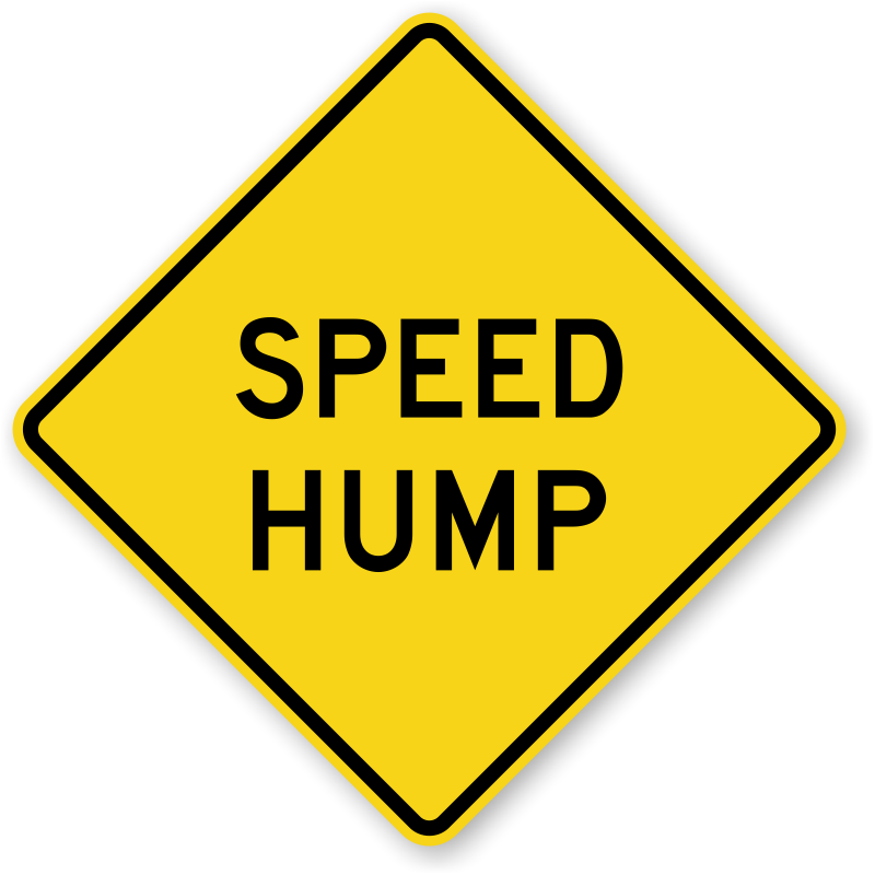 Speed bump clipart vector transparent stock Speed Bump Signs: For Slowing Down The High Speed - Clip Art ... vector transparent stock