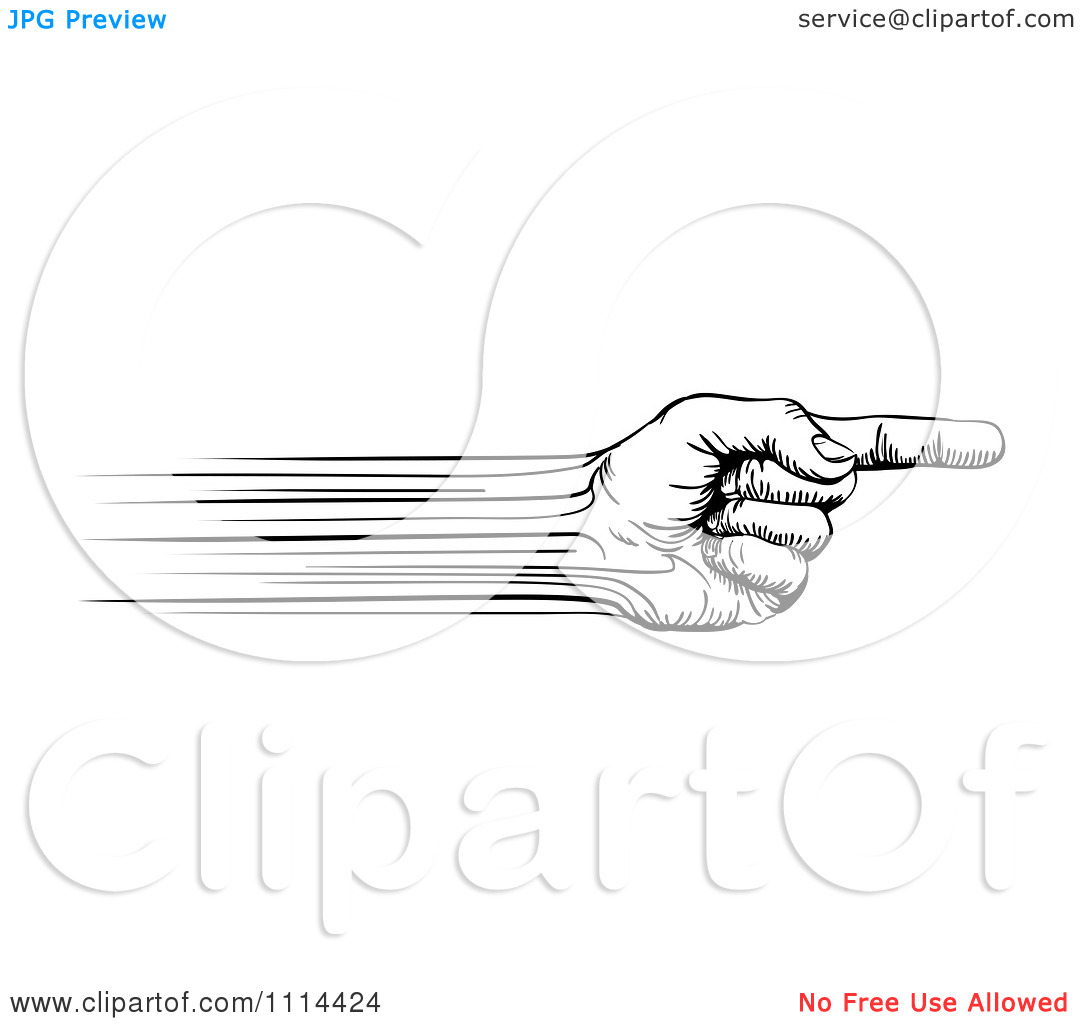 Speed clipart free clipart black and white stock Clipart Black And White Speed Lines Creating A Pointing Hand ... clipart black and white stock