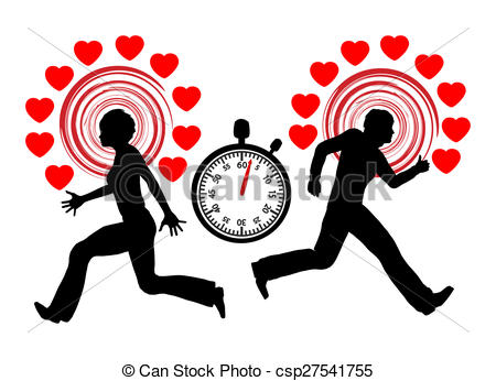 Speed dating clipart freeuse Clipart of Speed dating concept. - Illustration depicting an ... freeuse