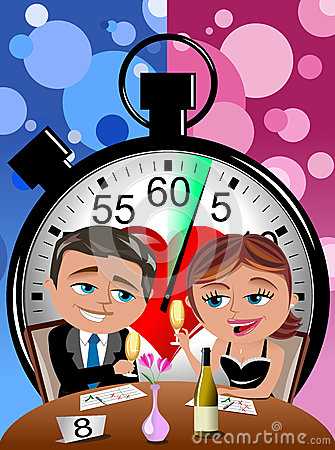 Speed dating clipart banner black and white library Speed Dating Stock Illustration - Image: 64871965 banner black and white library