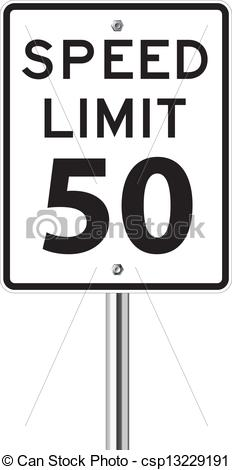 Speed limit sign clipart banner freeuse stock EPS Vectors of Speed limit sign on white csp13229191 - Search Clip ... banner freeuse stock