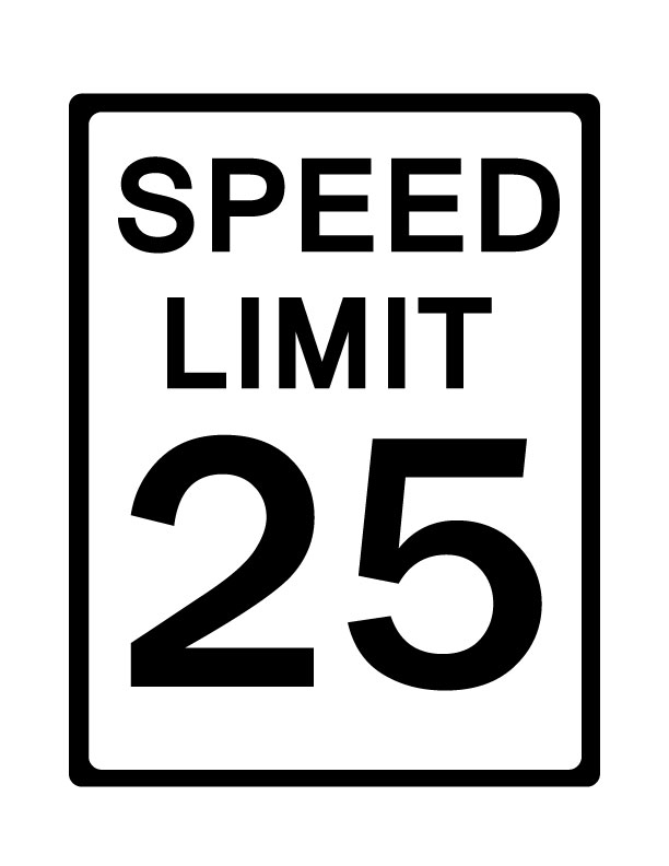 Speed limit sign clipart image black and white download 5 Speed Limit Sign Clipart - Clipart Kid image black and white download