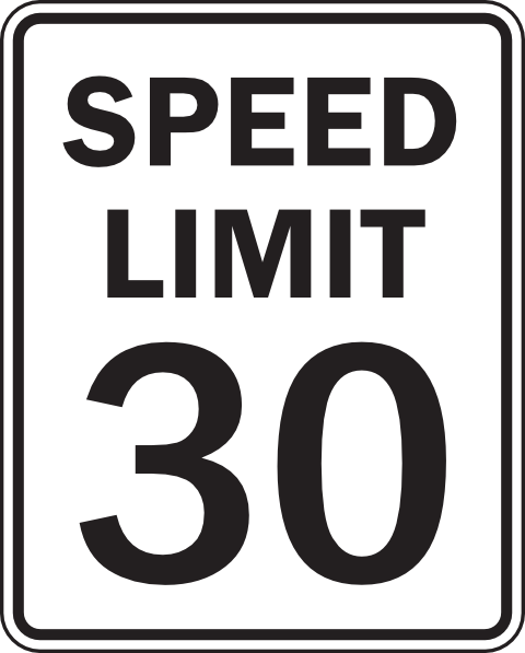 Speed limit sign clipart graphic transparent stock Speed Limit Sign Clipart - Clipart Kid graphic transparent stock