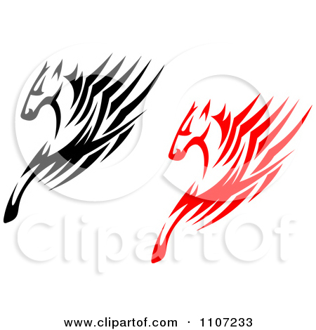 Speed logo clipart vector stock Clipart Black And Red Fast Horses With Speed Lines - Royalty Free ... vector stock