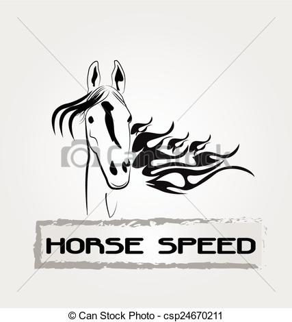 Speed logo clipart clip library library Vector Clip Art of Horse speed logo - Horse in speed motion ... clip library library