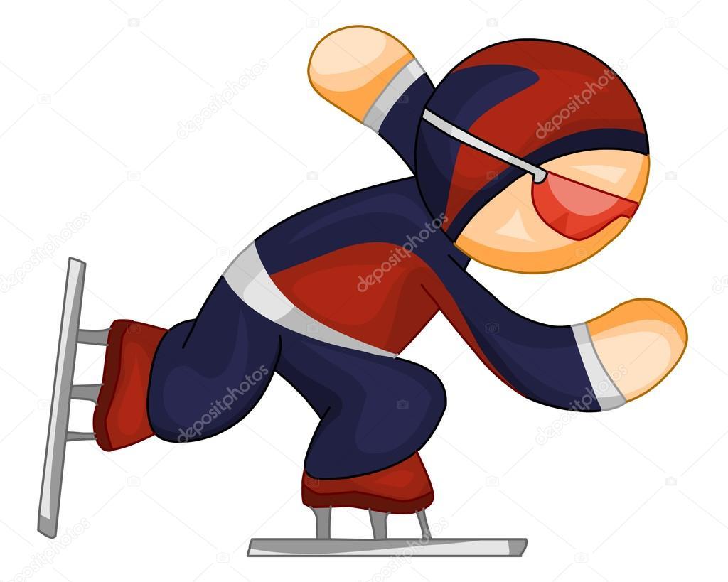 Speed skater clipart clipart freeuse download Speed skater icon — Stock Vector © Regisser_com #2303547 clipart freeuse download
