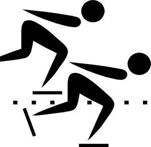 Speed skater clipart vector black and white library Olympic Sports Speed Skating Pictogram Clip Art | Cards ... vector black and white library