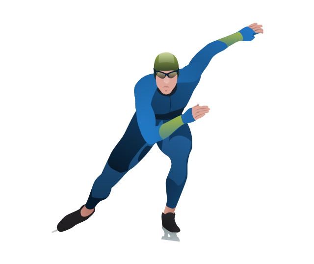 Speed skater clipart png freeuse library Speed skater clipart - ClipartFest png freeuse library